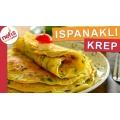 Ispanaklı ve Beyaz Krep nasıl yapılır ?