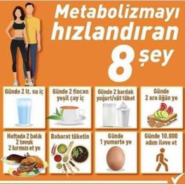 Metabolizmayı Hızlandıran 8 Faktör Nedir ?